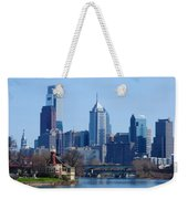 View Of Phliadelphia From West River Drive. Weekender Tote Bag