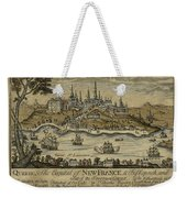View Of Quebec City 1759 Weekender Tote Bag