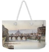 View Of Rome Weekender Tote Bag by I Martin