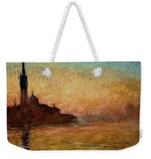 View Of San Giorgio Maggiore Weekender Tote Bag by Claude Monet