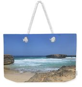 View Of Small Aruba Rock Formation On Boca Keto Weekender Tote Bag
