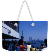 View Of Statue And Towers Weekender Tote Bag