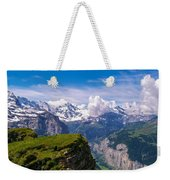 View Of The Swiss Alps Weekender Tote Bag