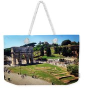 View Of The Arch Of Constantine From The Colosseum Weekender Tote Bag