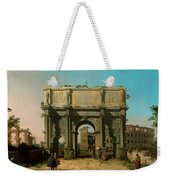 View Of The Arch Of Constantine With The Colosseum Weekender Tote Bag