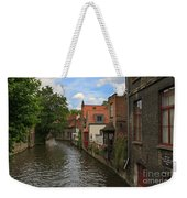 View Of The Canal From Maria Brug On Katelijnestraat In Bruges Weekender Tote Bag