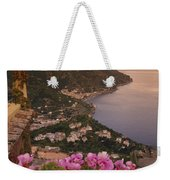 View Of The Coastline From The Hotel Weekender Tote Bag