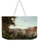 View Of The Colosseum From The Farnese Gardens Weekender Tote Bag by Jean Baptiste Camille Corot