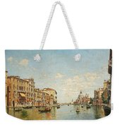 View Of The Grand Canal Of Venice Weekender Tote Bag