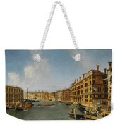 View Of The Grand Canal Venice With The Fondaco Dei Tedeschi Weekender Tote Bag