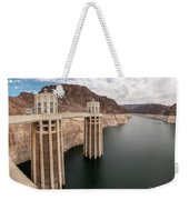View Of The Hoover Dam Lake With Low Water Reserves Weekender Tote Bag