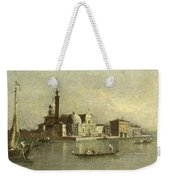 View Of The Isola Di San Michele In Venice Weekender Tote Bag