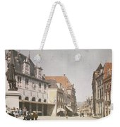 View Of The Market Horn  With The Statue Of Jan Pietersz Coen And The Waag Anonymous  1907   1930 Weekender Tote Bag