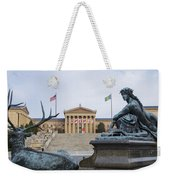View Of The Museum Of Art In Philadelphia From The Parkway Weekender Tote Bag