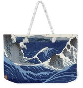 View Of The Naruto Whirlpools At Awa Weekender Tote Bag by Hiroshige