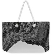 View Of The Natural Tunnel Of Hole In The Wall Beach Weekender Tote Bag