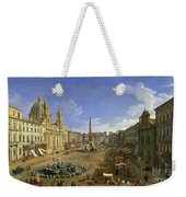 View Of The Piazza Navona Weekender Tote Bag