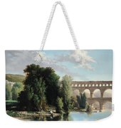 View Of The Pont Du Gard Weekender Tote Bag