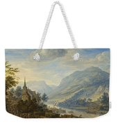 View Of The Rhine River Near Reineck Weekender Tote Bag