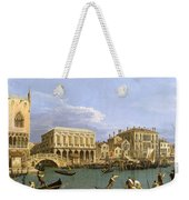 View Of The Riva Degli Schiavoni. Venice Weekender Tote Bag