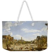 View Of The Roman Forum Weekender Tote Bag by Giovanni Paolo Panini