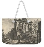 View Of The So-called Temple Of Concord With The Temple Of Saturn, On The Right The Arch Of Septimiu Weekender Tote Bag