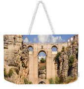View Of The Tajo De Ronda And The Puente Nuevo Bridge From Across The Valley Weekender Tote Bag