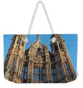 View Of The Top Detail Of The Parlament House In London Weekender Tote Bag