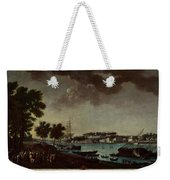 View Of The Town And Port Of Bayonne Weekender Tote Bag
