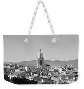 View Of The Village And The Clocher Of Saint-tropez Weekender Tote Bag