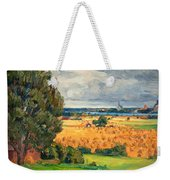 View Of Vadstena From The Surrounding Fields Weekender Tote Bag