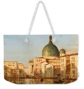 View Of Venice With San Simeone Piccolo Weekender Tote Bag