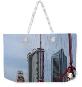 View Oftajmahal Hotel Atalantic City America From The Play Ground Family Entertainment Centre Beach Weekender Tote Bag