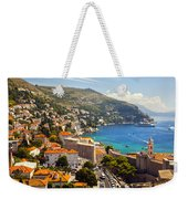View Over Dubrovnik Coastline Weekender Tote Bag
