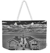 View Over The Pier Mono Weekender Tote Bag