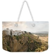 View Over The Tajo Gorge Ronda Home Of Bullfighting Weekender Tote Bag
