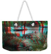 View To The Cove - Use Red-cyan 3d Glasses Weekender Tote Bag