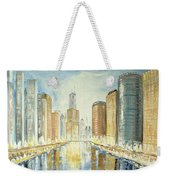 View Up The Chicago River Weekender Tote Bag