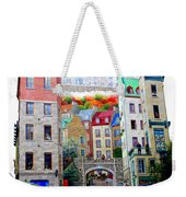 Viewing A Mural At La Fresque Des Quebecois Weekender Tote Bag