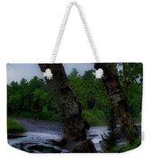 Viewing Tahquamenon Lower Falls Upper Peninsula Michigan Panorama 02 Weekender Tote Bag
