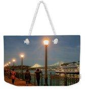 Viewing The Bay Bridge Lights Weekender Tote Bag