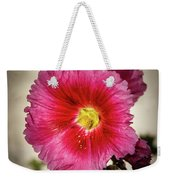 Vignetted Hollyhock Weekender Tote Bag