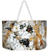 Vignettes - Indigo Winter Berries Weekender Tote Bag