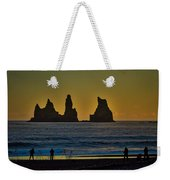 Vik Sea Stacks At Dusk - Iceland Weekender Tote Bag