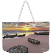 Gale Beach At Sunset. In Algarve Weekender Tote Bag