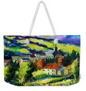 Village And Blue Poppies  Weekender Tote Bag