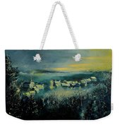 Village In A Misty Morning  Weekender Tote Bag