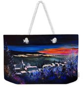Village In A Winter Morninglight Weekender Tote Bag