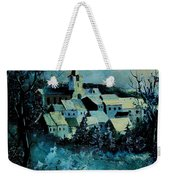 Village In Winter Weekender Tote Bag