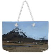 Village Of Arnastapi At The Base Of Mount Stapafell Weekender Tote Bag
